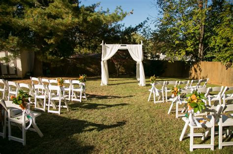 how to set up a backyard wedding capitol wedding carla kevin s multicultural backyard