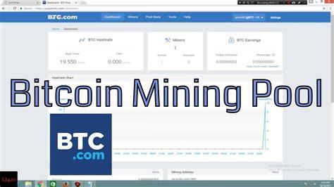 bitcoin pool tutorial bitcoin mining pool btc com tutorial youtube