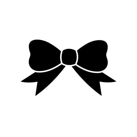 Black Simple Bow 188 best images about svg files on cheer silhouette store and clip