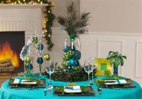 peacock decorations des id 233 es int 233 ressantes pour une d 233 coration table de no 235 l