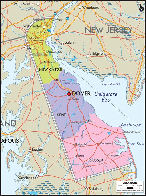 delaware road map usa detailed political map of delaware ezilon maps