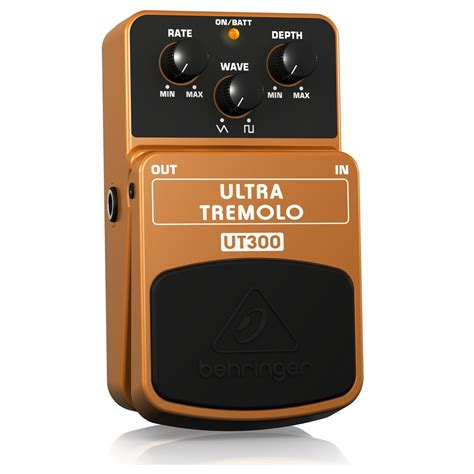 Behringer Ultra Tremolo Ut300 Effects Pedal Efek Stompbox Gitar Bass behringer ut300 ultra tremolo pedal at gear4music ie