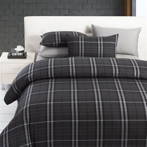 manly comforter sets modern boys leisure black and grey plaid bedding sets