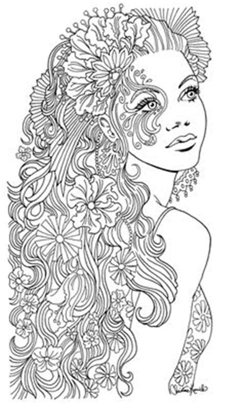 beautiful hair coloring pages bunte farben von christine kuche colours pinterest