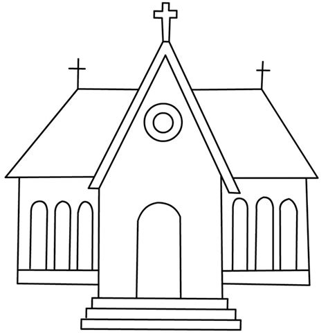 church house coloring pages black and white church house drawing pictures to pin on