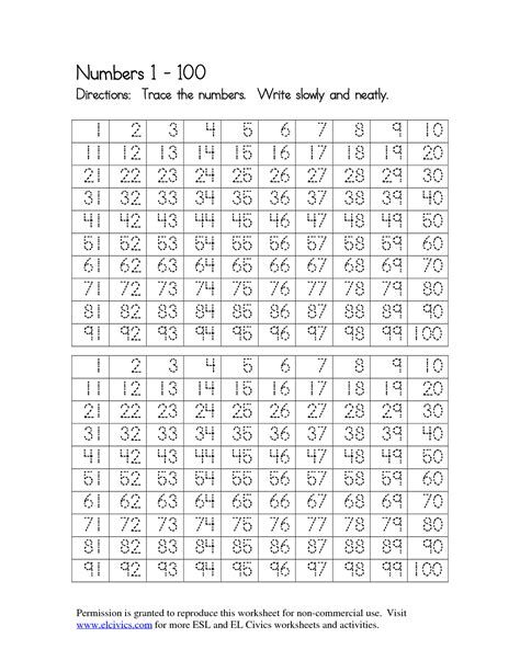 Writing Numbers 1 100 Worksheet by 8 Best Images Of Number Worksheets 10 20 Tracing