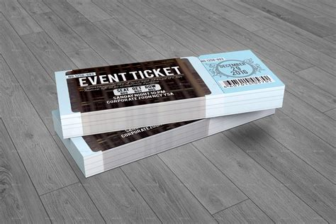 event design mockup event ticket by perfectpixel14 graphicriver