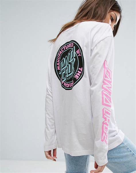 Back Print Sleeve T Shirt santa sleeve skate t shirt with back logo and