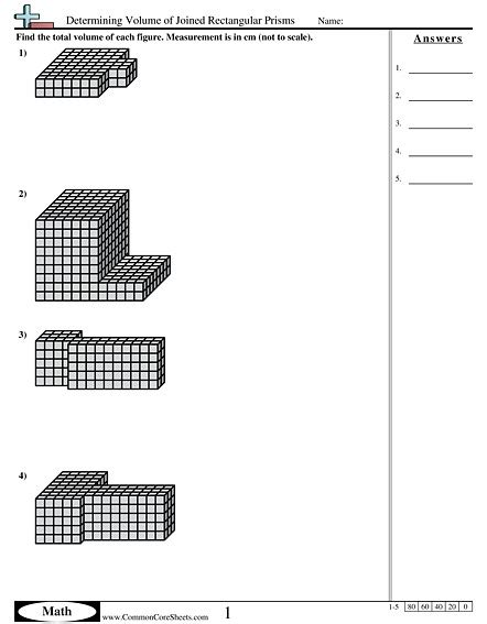 Free Printable Volume Of Rectangular Prism Worksheets
