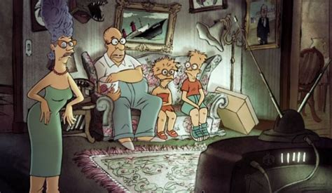 french simpsons couch gag triplets of belleville director sylvain chomet does