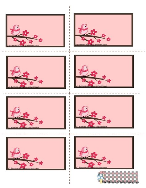 printable label templates for baby shower free printable pink baby shower labels