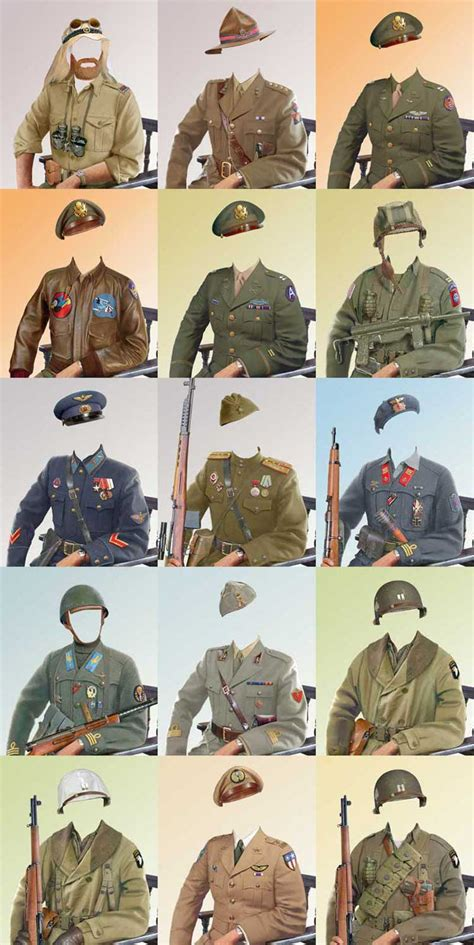 military uniform templates for photoshop history collections 22