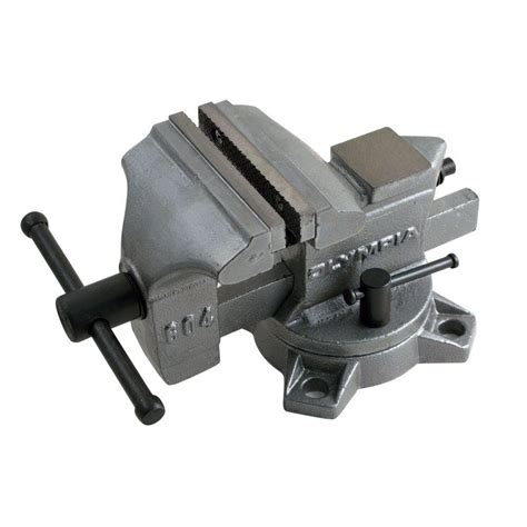 4 bench vise olympia 4 in bench vise 38 604 the home depot