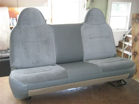 Car Upholstery Shops - mixed fabric and leather auto seat upholstery repair
