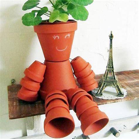 Fabriquer Un Pot De Fleur by Bonhomme En Pot De Fleur