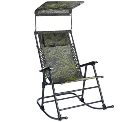 large chair with sunshade bliss hammocks deluxe foldable rocking chair with sun