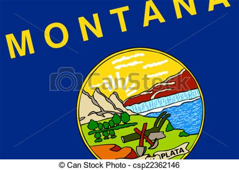 montana state colors drawing of montana state flag csp22362146 search clip