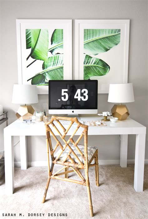 watercolors home and office decor on pinterest sarah m dorsey designs large scale banana leaf prints diy