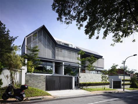 home sleek home slatted facade house with sleek adjoined apartment