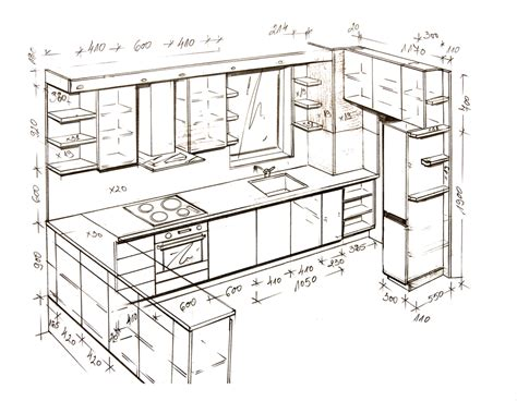 Kitchen Design Sketch 24 Popular Kitchen Interior Design Sketch Rbservis
