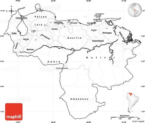 venezuela map coloring page blank simple map of venezuela cropped outside