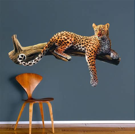 animal wall mural leopard wall mural decal animal wall decal murals