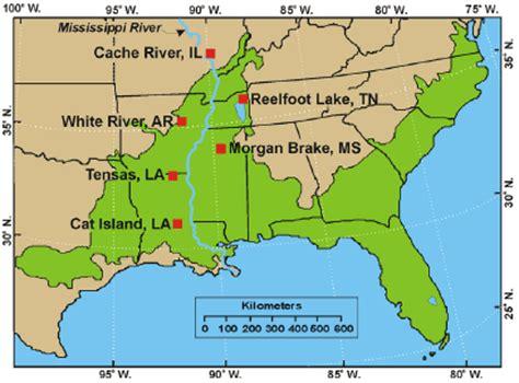 gulf coastal plain map usgs nwrc fact sheet 2004 3019 latitudinal variation in
