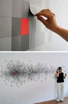 Pixelnotes Wallpaper Reinvents The Post It by Cool Painting Ideas That Turn Walls And Ceilings Into A