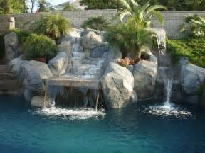 ordinary Brick Wallpaper Living Room Ideas #9: Amazing-Exterior-House-with-Best-Swimming-Pool-also-Lavish-Stone-Wallpaper-Ideas-plus-Trees-Decor-near-Brick-Fence-as-Beautiful-Backyard-Concept-909x682.jpeg