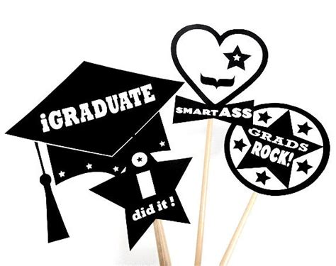 free printable graduation photo booth props 2015 graduation photo booth prop printable photobooth prop
