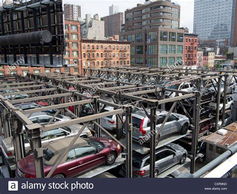 Parking Garage Manhattan by Car Park Stacked Parking Garage Manhattan New York City