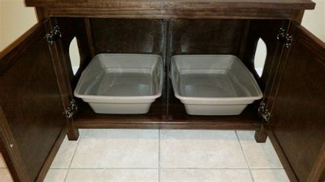 odor  double cat litter box cabinet ideal