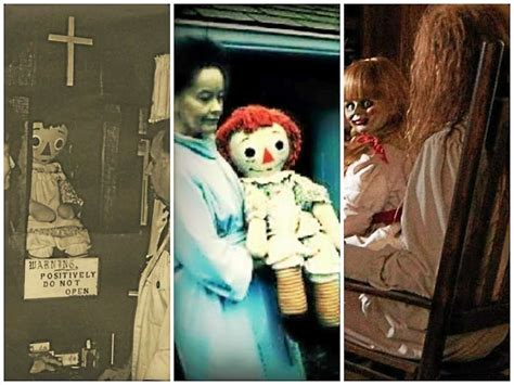annabelle doll in et real annabelle story shared by lorraine warren at