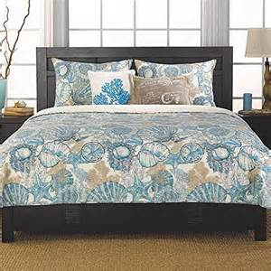 Brushed ashore teal and brown coral amp seashell quilt set beachfront