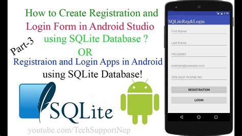 design login form in android android login and register with sqlite database tutorial