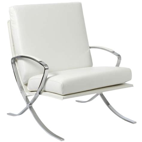 White Leather Lounge Chair by Pietro Leather Lounge Chair White Chrome Lounge Chairs