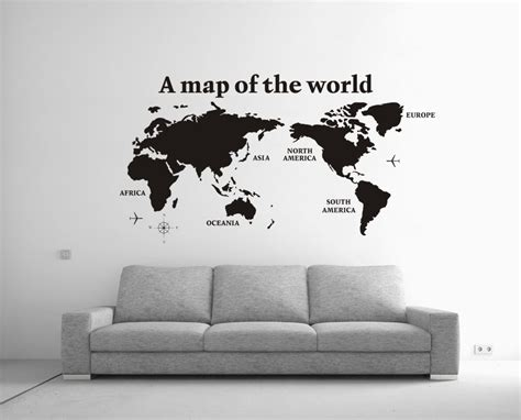World Map Stickers For Walls cool office wall art cool office interiors