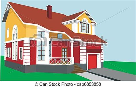 My Two Bedroom Story Beautiful Two Story House With A Porch And Garage Vector