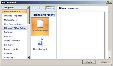 tutorial archive ms word create a template from a blank