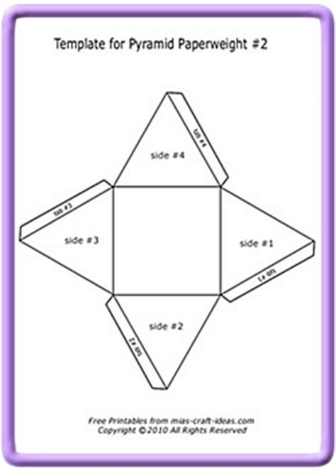 How To Make A Paper Pyramid Template - 4 sided pyramid template