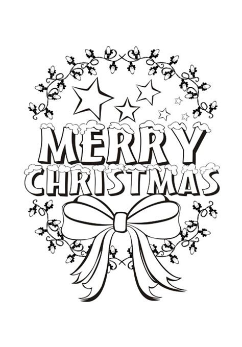 coloring pictures of merry christmas beautiful merry christmas coloring pages for kids
