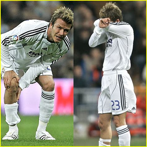 David Beckham Injures Knee In Soccer Match by 2007 March 04 Just Jared