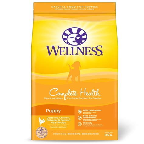 wellness puppy food reviews wellness complete health puppy chicken oatmeal salmon food kohepets singapore