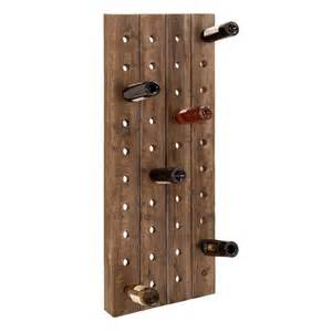 woodland imports 55409 wood wall mount wine rack atg stores