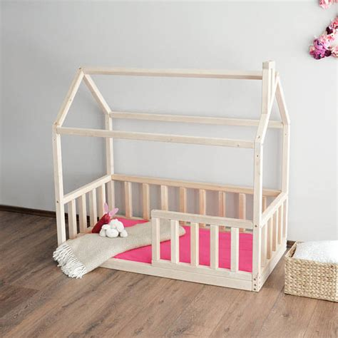 Toddler Montessori Bed House Bed Frame Baby Bed Crib Size Montessori Bed Frame