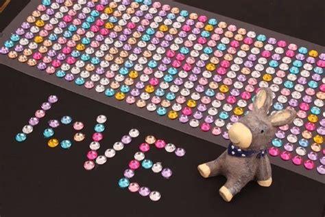 Bronzing Nail Stickers 3d nail rhinestones sticker 750pcs sheet 11color sticker
