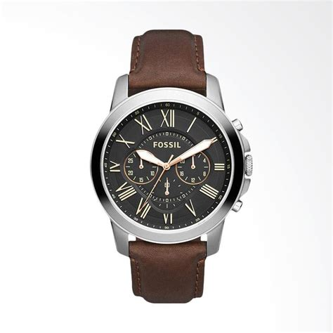 Jam Tangan Ffossil Sepasang Tanggal Hari Silver Cover Black jual fossil grant jam tangan pria silver fs4813 harga kualitas terjamin blibli