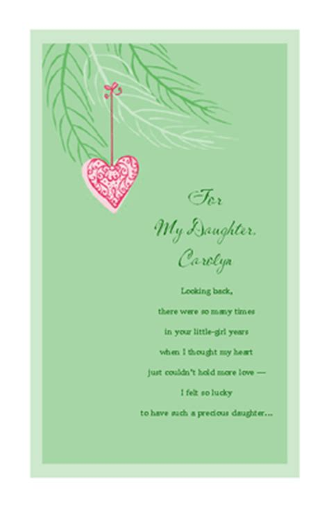 love  daughter christmas printable card blue mountain ecards