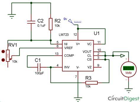 5v Regulator Circuit Diagram lm723 voltage regulator circuit diagram