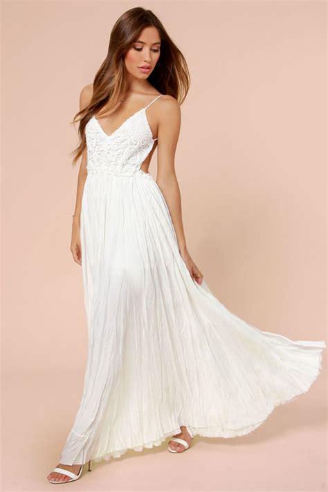 Ivory Ivori Dress Vsnzcc pretty ivory dress crocheted dress maxi dress 107 00